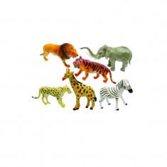 Set animale 6 piese Unika Toy Safari 24390, Multicolor