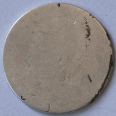 50 bani, 1884 Romania - de argint - deteriorata