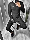 Cumpara ieftin Bluza pentru barbati, din bumbac si vascoza, transparenta, casual, slim fit, negru - LOGO JUMPER