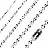Lanț din oțel inox de culoare argintie, bile lucioase - Grosime: 4 mm, Lungime: 535 mm