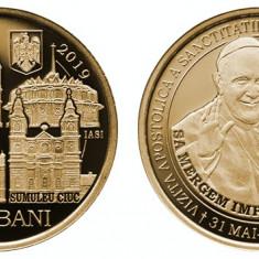 Romania 2019   50 Bani - vizita Papei Francisc,   UNC  din fisic BNR