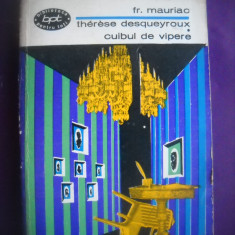 HOPCT  THERESE DESQUEYROUX/ CUIBUL DE VIPERE/ FR MAURIAC- 1967 - 316   PAGINI