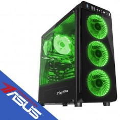 Sistem desktop Rogue Plus Powered by ASUS AMD Ryzen 7 2700 Octa Core 3.2 GHz 16GB DDR4 GTX 1660 Ti Phoenix OC 6GB GDDR6 HDD 1TB SSD 120GB Free Dos Bla