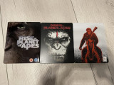 Planet of the Apes (Planeta Maimutelor) (3 filme bluray steelbook-Rise,Dawn,War), BLU RAY, Engleza