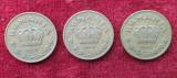 Set 3 monede 1 Leu 1938, 1939 & 1940 Romania regat