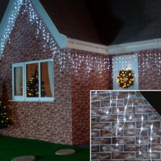 Instalatie de Craciun Flippy® Tip Turturi cu Flash, 6 m, 180 LED-uri, Interconectabila, Alb Rece