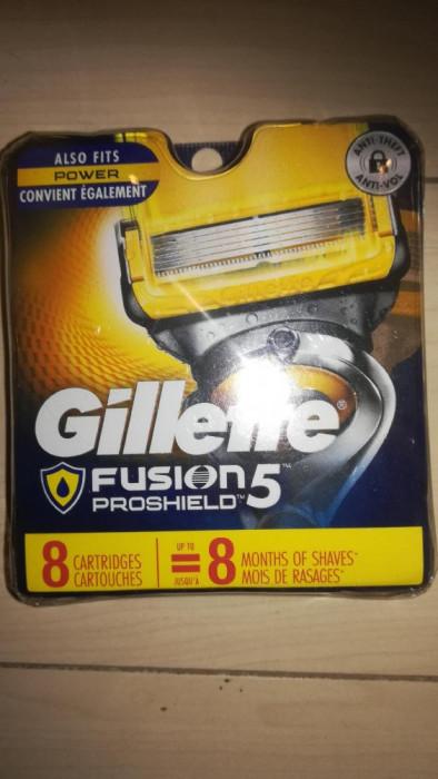 Set 8 buc rezerve Fusion Gillette Proshield . NOU  USA