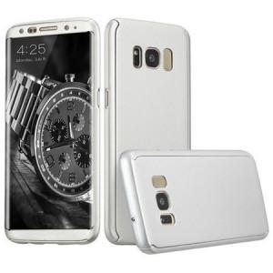 Husa Full Cover 360° (fata + spate) pentru Samsung Galaxy S8, argintiu