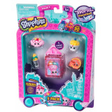Set 5 figurine Shopkins colectia Europa Pink, 5 ani+