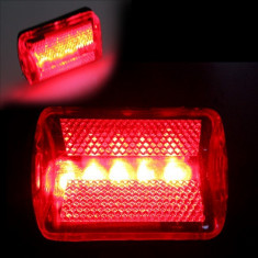 Stop bicicleta 5 LED-uri, 6 moduri iluminare, vizibilitate 800 m