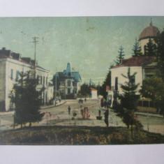 Campulung Muscel-Piata Regala si Vila Paul,carte postala circulata 1930