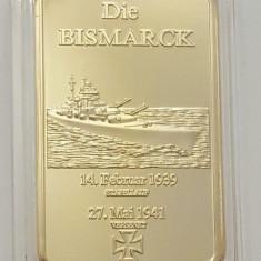 Lingou Auriu Bismarck nava de razboi 1939-1941 UNC