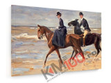Tablou pe panza (canvas) - Max Liebermann - Rider & Rider on the beach