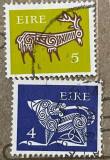 Irlanda Cerb stilizat,, Câine stilizat, broșă din secolul al VII-lea, Fauna, Stampilat