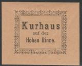 1895 Romania - Timbru nedantelat Hohe Rinne, Emisiunea II tip B, Posta Paltinis