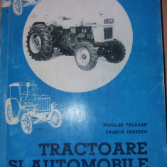 TRACTOARE SI AUTOMOBILE TECUSAN ,IONESCU 1995 AUTOGRAF