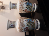 Set doua vase ceramica glazurata asiatice