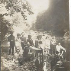 Fotografie copii la pescuit poza veche