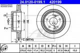 Disc frana MERCEDES E-CLASS (W124) (1993 - 1995) ATE 24.0120-0199.1