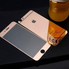 Folie Sticla iPhone 6 Plus iPhone 6s Plus Tuning ROSE GOLD Oglinda Fata+Spate Tempered Glass Ecran Display LCD