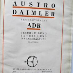 Carte tehnica Auto in lb. germana, Viena 1930: Austro Daimler Motor 6 Cilindri