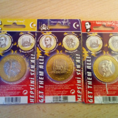 Lot monede 3 euro fantasy Turkey