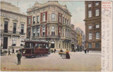 Amsterdam  - Tramvai electric, Olanda,  circulata August 1904, animata, Fotografie