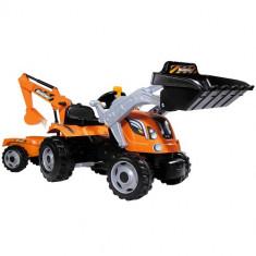 Tractor cu Pedale si Remorca Builder Max, Smoby