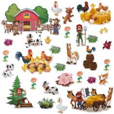 Set 30 Stickere copii - Ferma2 60x90cm plansa, STKWAC0009