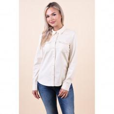 Camasa Bumbac Vero Moda Maria Slim Bej Deschis