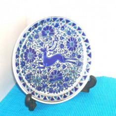 Farfurie ceramica emailata cloisonne, hand made - Cerb - Dakas Keramik Grecia