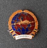 Insigna Pilot - Aviatie - Pt 4000000 km efectuati - tema merite - fruntas