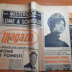 magazin 7 octombrie 1967-interviu margareta paslaru,articol merele de voinesti