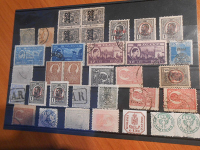 timbre Romania, erori, supratipare, curiozitati, abklasch, pret per timbru foto