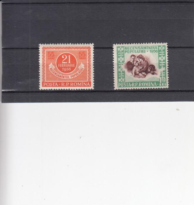 1956  LP 403   RECENSAMANTUL  POPULATIEI  SERIE  MNH