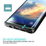 Folie protectie PRIVACY sticla securizata Samsung Galaxy Note 8 3D Black