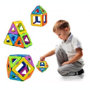 Set de constructii magnetic 3D MagicSpaceGame 26 piese de jucarie