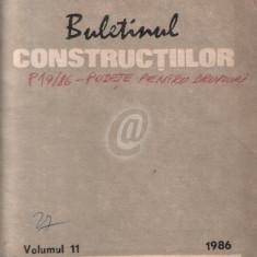 Buletinul constructiilor, vol. 11 (1986)