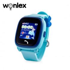 Ceas Smartwatch Pentru Copii Wonlex GW400S WiFi cu Functie Telefon, Localizare GPS, Pedometru, SOS, IP54 - Bleu, Cartela SIM Cadou