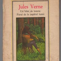 C8296 UN BILET DE LOTERIE. FARUL DE LA CAPATUL LUMII DE JULES VERNE, VOL. 9