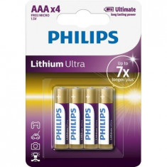 Baterii Philips Lithium Ultra AAA 4-blister