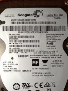 HDD SATA Hard disk Laptop  500gb Seagate ST500LM021 7200rpm 32MB Subtire