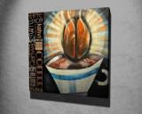 Tablou decorativ, Vega, Canvas 100 procente, lemn 100 procente, 45 x 45 cm, 265VGA1093, Multicolor