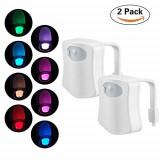 Cumpara ieftin Pachet Promo 2 x Senzor LED Pentru Capac Toaleta MultiColor cu Senzor de Miscare