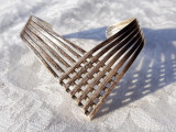 BRATARA argint RETRO vintage REGLABILA model TRIBAL de efect SPLENDIDA rara