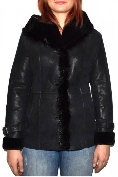 Cojoc dama, din blana naturala, marca Kurban, 2011-01-95, negru , marime: 3XL