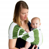 Sistem Purtare Baby Ktan Baby Carrier Print - Olive Stripe - Marimea L