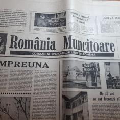ziarul romania muncitoare 13 martie 1990-art.si foto muzeul nicolae iorga