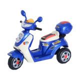 HomCom Mini Moto Motoreta Electrica 6V pentru Copii Viteza 3KM/h cu Lumini Muzica, Albastru