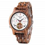 Cumpara ieftin Ceas din lemn Bobo Bird mecanic Q27-4